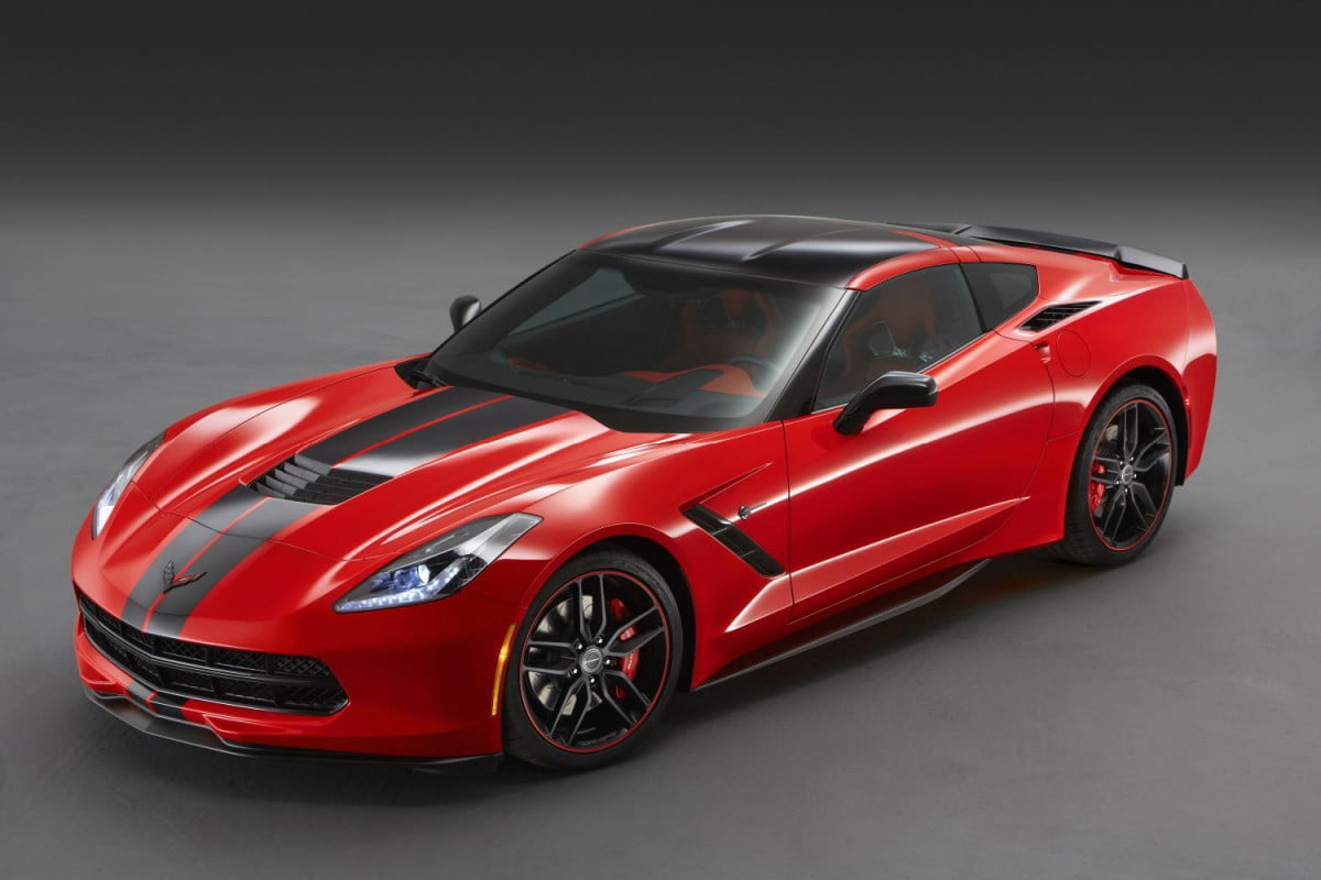 chevy goes back drawing board new corvette design packages  sema stingray pacific coupe
