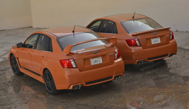 2013 Subaru WRX and WRX STI Special Editions front three quarter