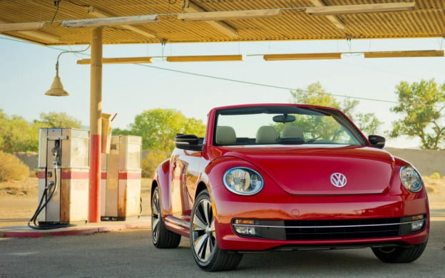 2013 Volkswagen Beetle Convertible front three-quarter view
