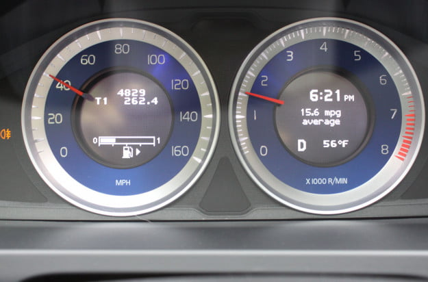 2013 volvo s60 t6 r design tech analog tach and speedometer