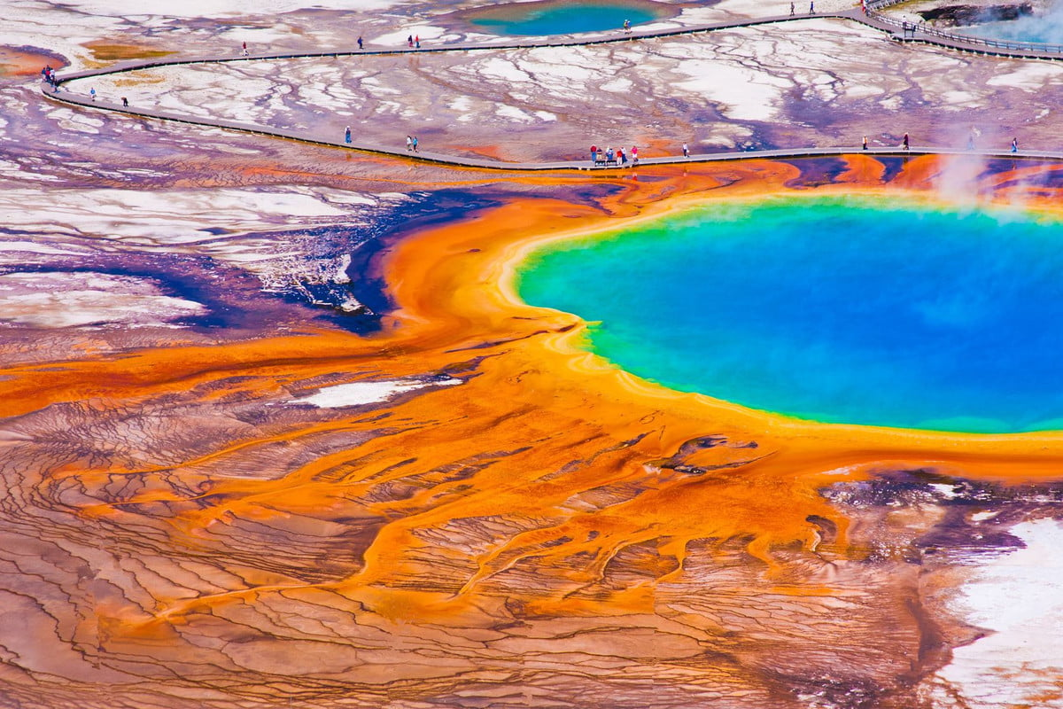 videographer charged for tresspassing at hot spring  the world famous grand prismatic in yellowstone national park