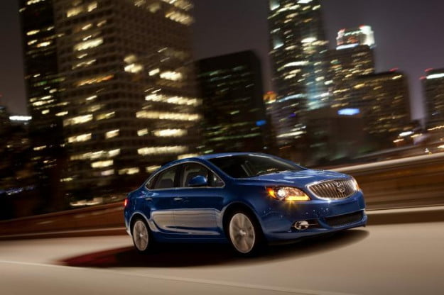 Buick Verano Turbo city night driving