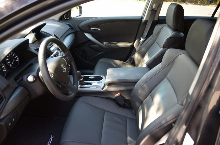 acura rdx review interior front side view