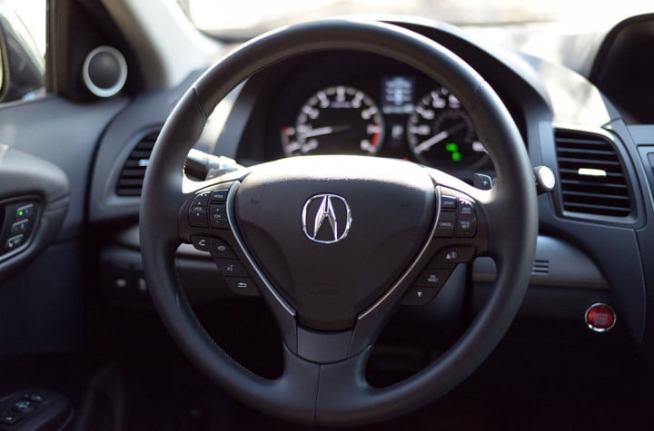 acura rdx review interior steering wheel