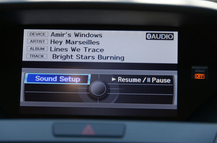 acura rdx review screen sound setup