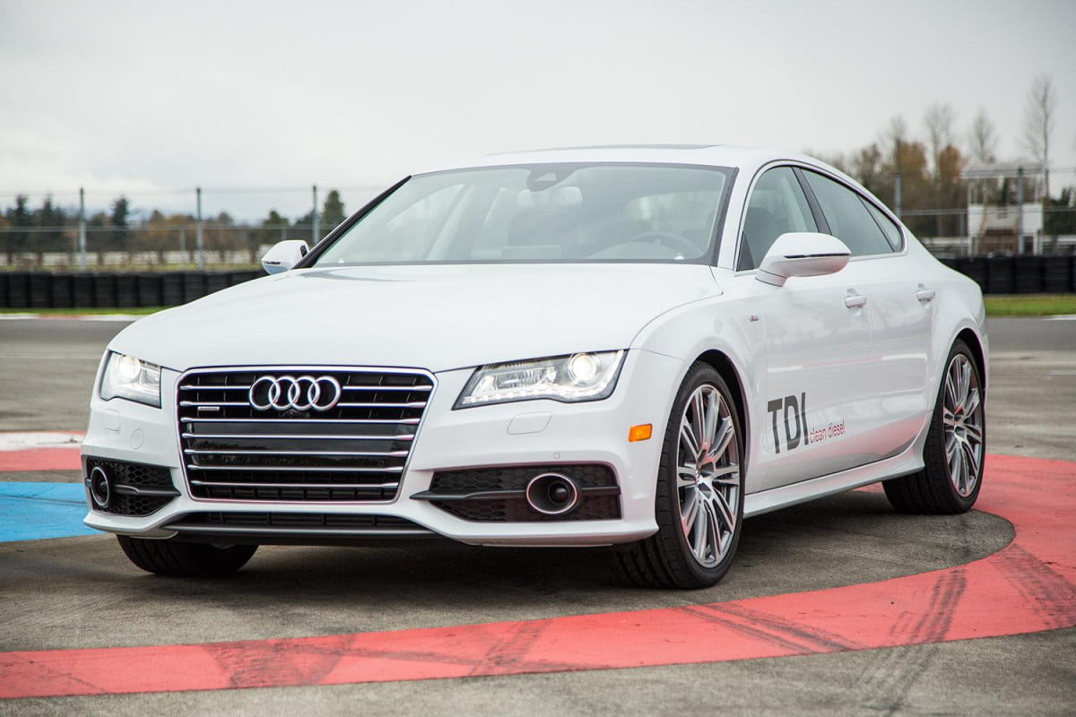 audi and vw join porsche stop sales of cheating diesels  a tdi exterior front angle