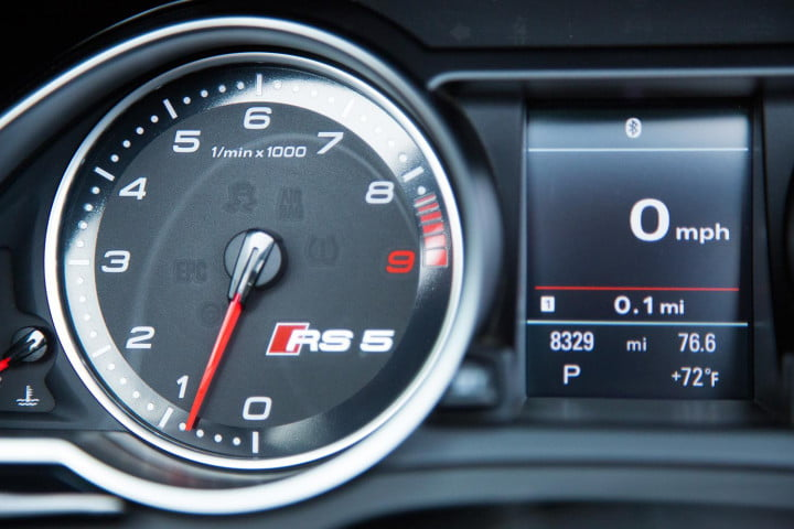 audi rs cabriolet review instrument panel detail