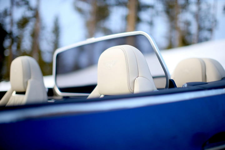 bentley continental gt speed review blue headrest