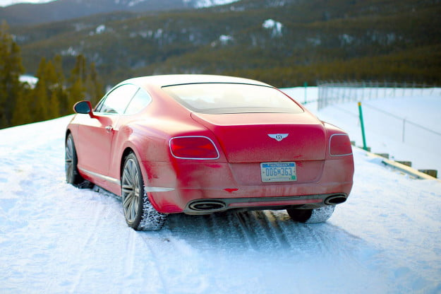 2014 Bentley Continental GT Speed red back angle