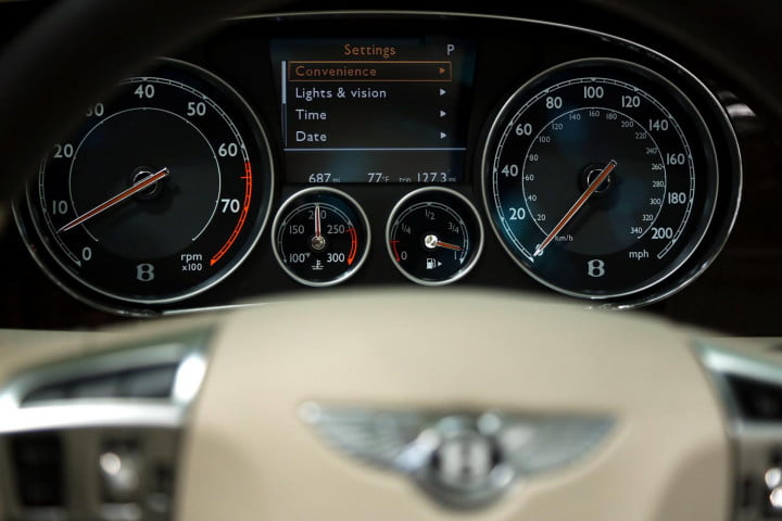 bentley continental gtc review instrument panel