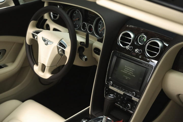 2014 Bentley Continental GTC interior front navigation