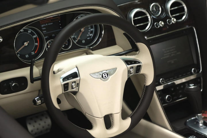 bentley continental gtc review steering wheel
