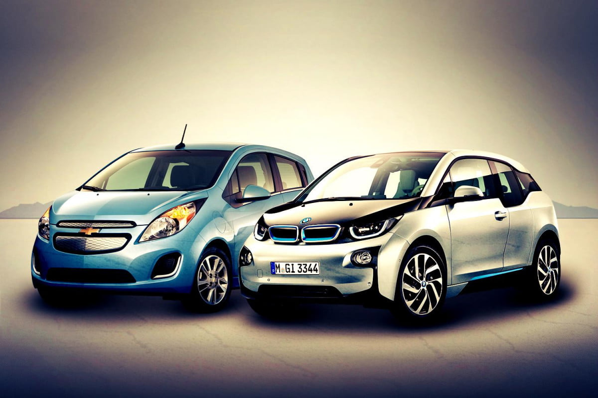bmw i  vs chevy spark ev bavaria and detroit may be closer than you think chevrolet