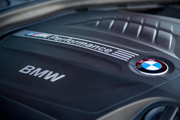 2014 BMW M235i engine macro angle