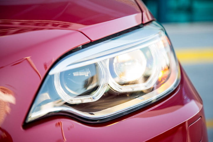 bmw m i coupe review headlight