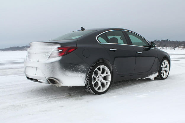 2014 Buick Regal GS AWD back angle 1