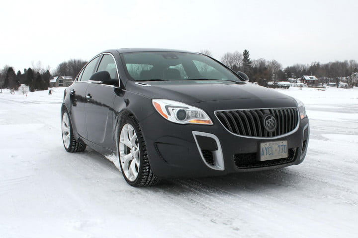 buick regal gs review awd front angle