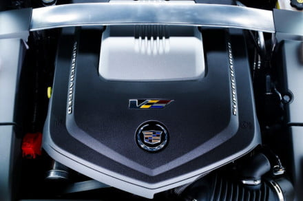 2014-Cadillac-CTSV -engine