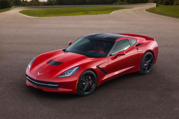 2014 Corvette Stingray front overhead