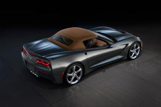 2014 Chevrolet Corvette convertible exterior rear angle top up
