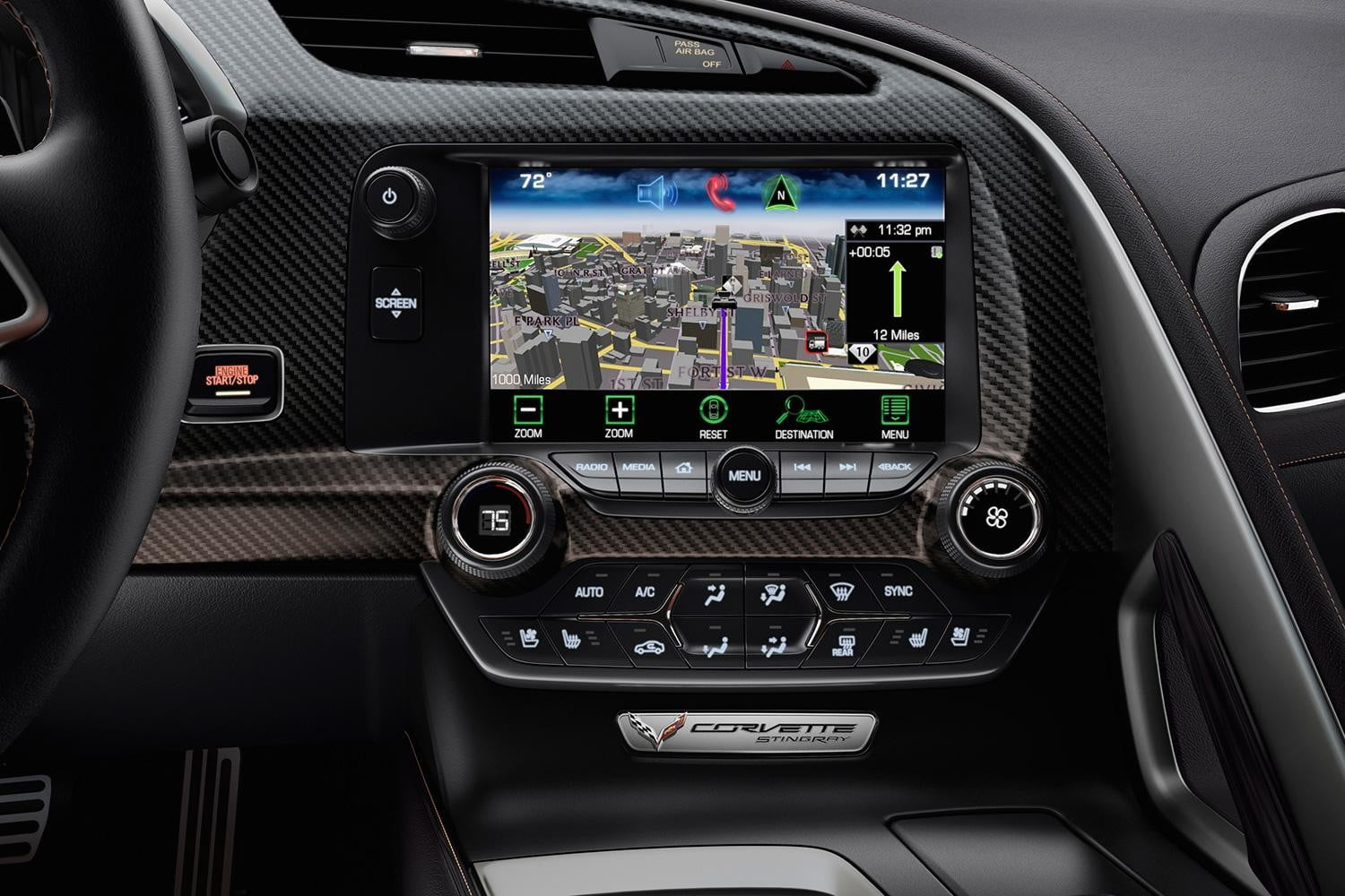 2014 Chevrolet Corvette interior tech