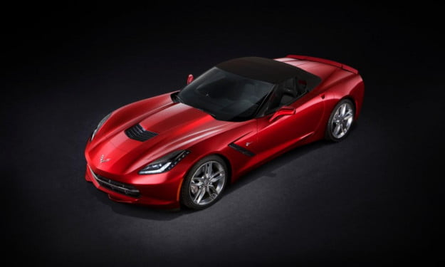 2014 Chevrolet Corvette Stingray convertible overhead top up