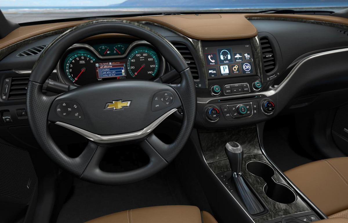 general motors plans android based infotainment system  chevrolet impala