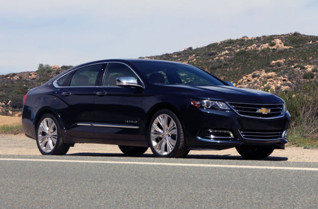 2014 chevrolet impala navy front right angle