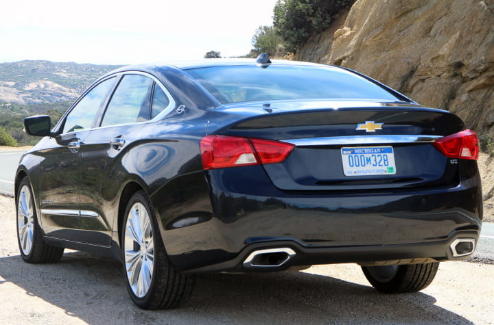 first drive come for the nostalgia stay tech smarts in chevys  impala chevrolet navy rear left angle