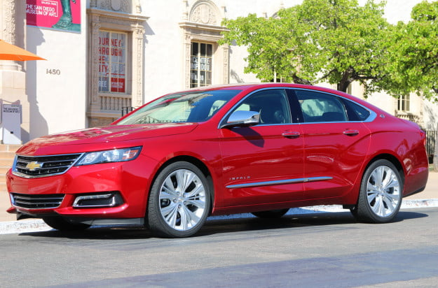 2014 chevrolet impala red left side full