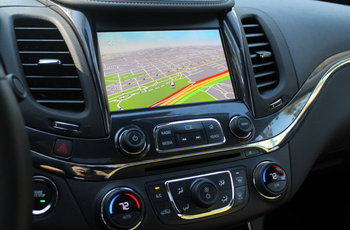 first drive come for the nostalgia stay tech smarts in chevys  impala chevrolet red navigation screen full mylink