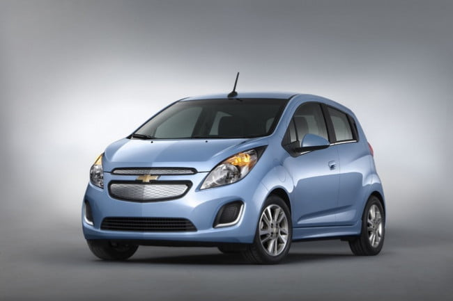 2014 Chevy Spark EV front three quarter view
