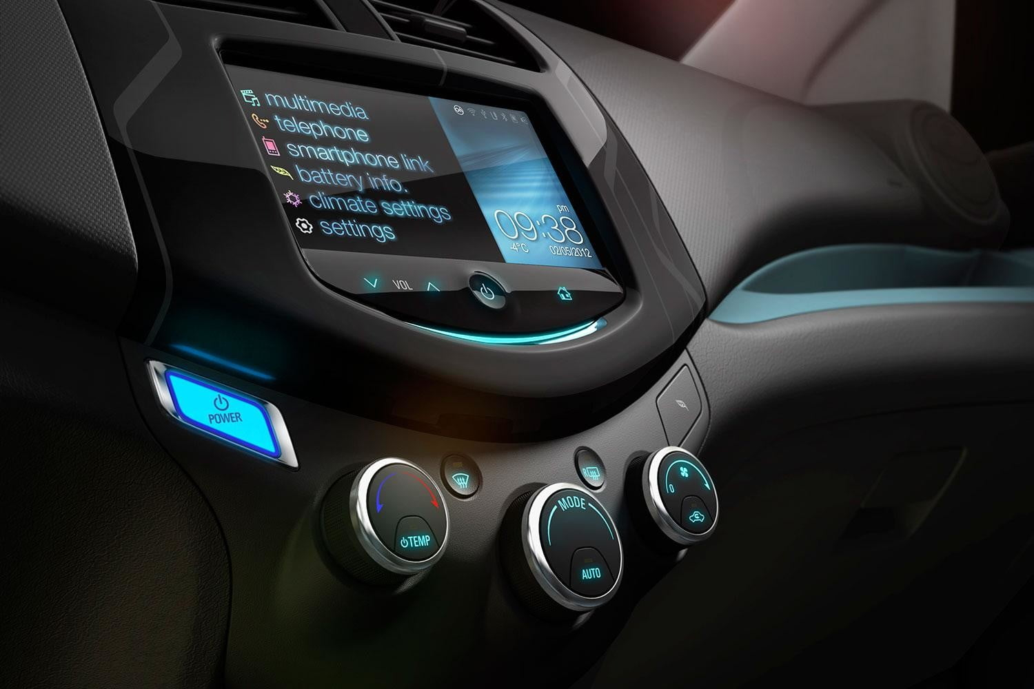 2014 Chevrolet SparkEV interior tech entertainment console