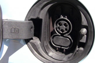 2014 Chevy Spark EV first drive charging port macro