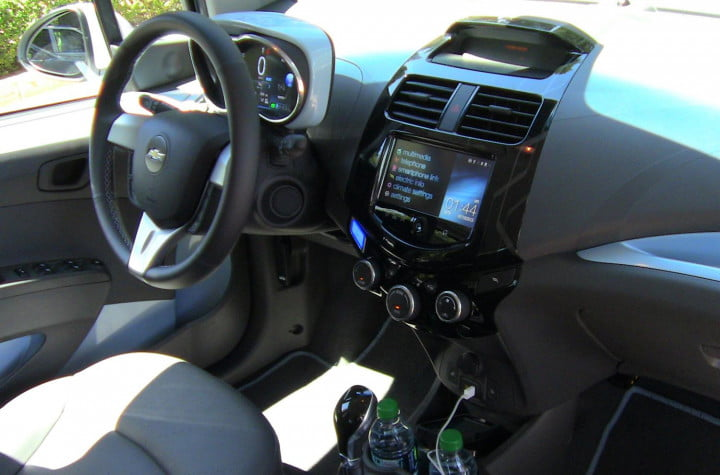 chevy spark ev review first drive interior front