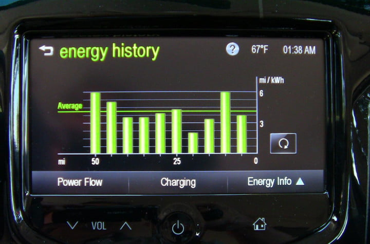 chevy spark ev review first drive tech energy history screen