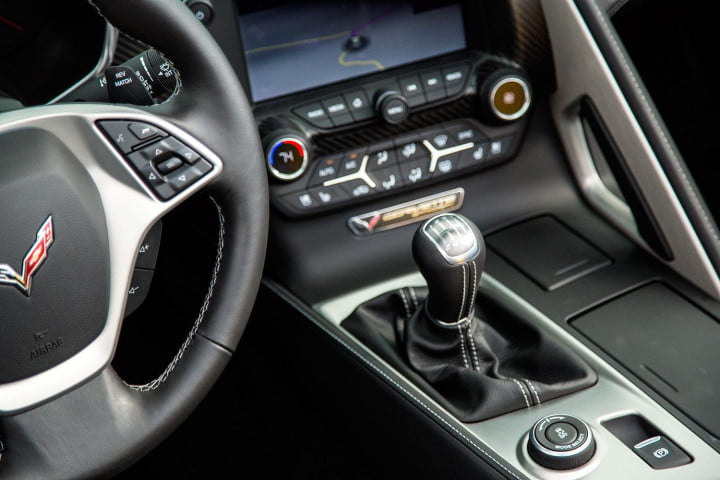 chevrolet corvette stingray convertible review gearstick