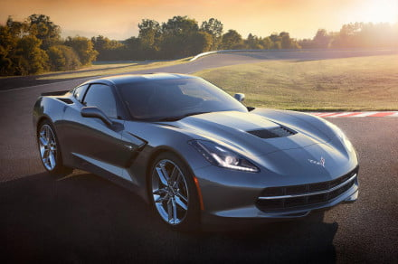 2014 Corvette Stingray exterior charcoal front right angle