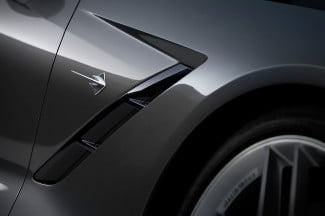 2014 Corvette Stingray exterior charcoal side vent macro