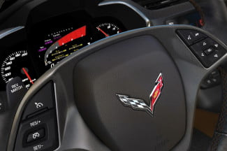 2014 Corvette Stingray interior steering wheel macro