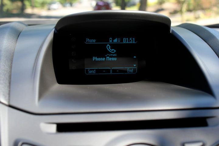 ford fiesta se review console screen