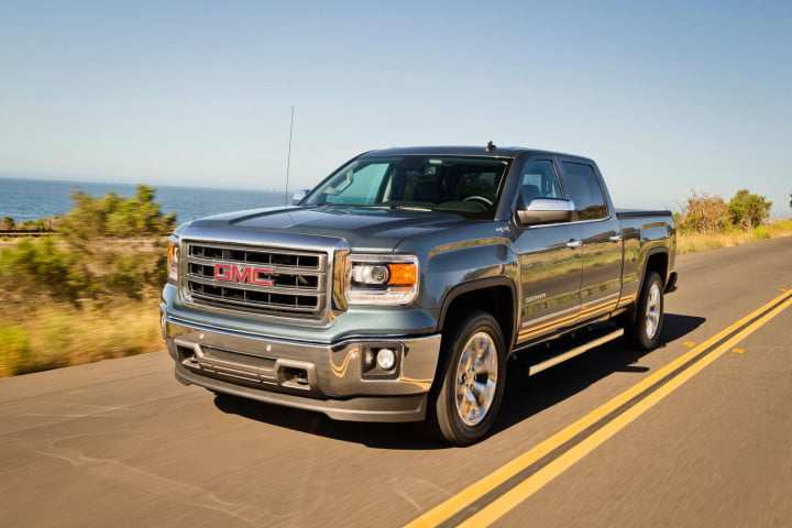 gmc sierra wd review in motion front angled