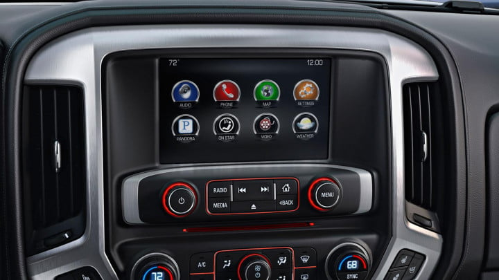 gmc sierra wd review infotainment center menu