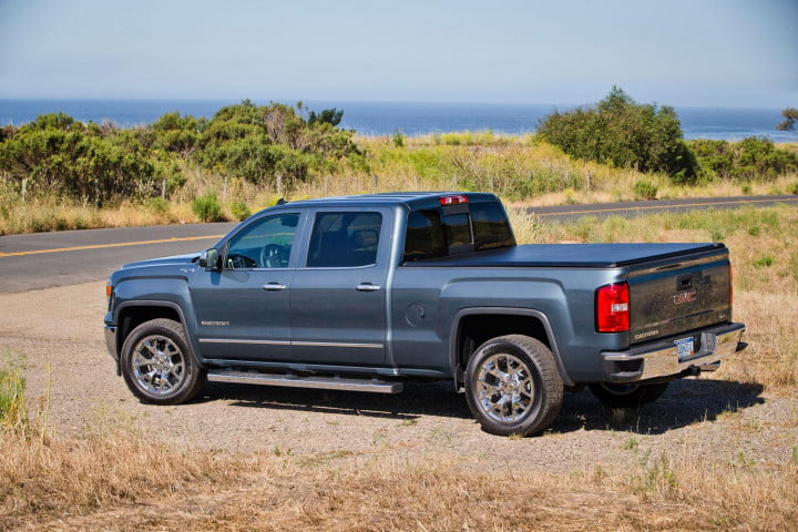 gmc sierra wd review rear left angled