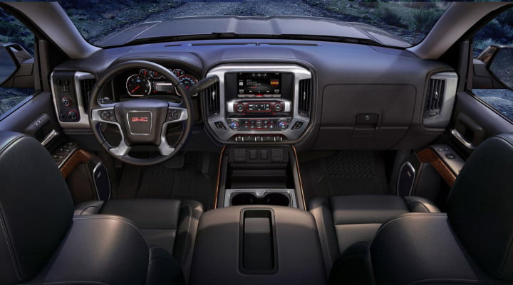 gmc sierra wd review view from backseat