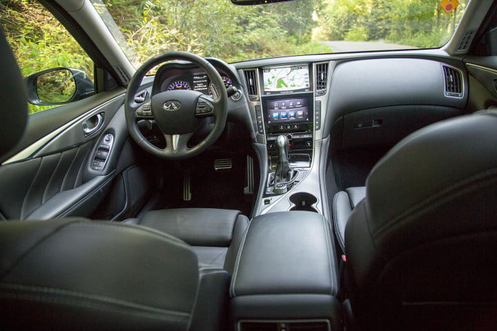 screen two far acura infiniti start worrying trend infotainment  q s interior front
