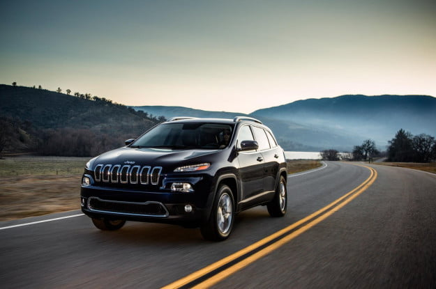 2014 Jeep Cherokee driving