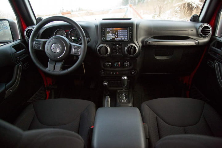 jeep wrangler unlimited review sport interior front rear view