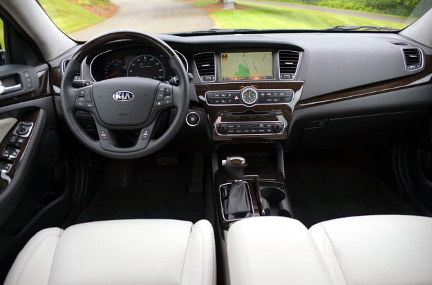2014 Kia Cadenza interior front from rear