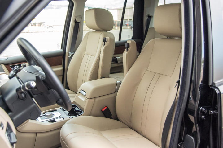 land rover lr review front seats